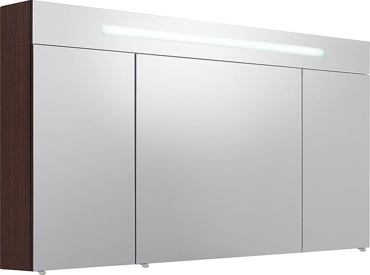 Spiegelschrank m. bel. Blende Eiche dunkel 3 Türen 1200x740x160mm