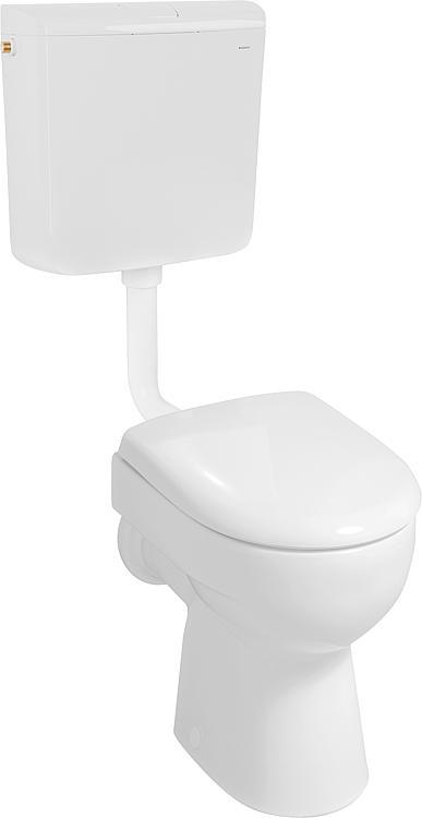 Geberit WC-Set bestehend aus AP-Spülkasten, Stand-WC und WC-Sitz