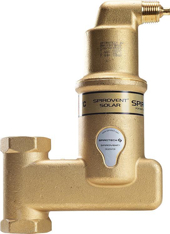 SpiroVent Solar AutoClose vertikal - Klemmring 22mm